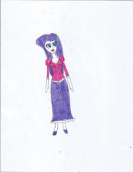 Size: 1700x2200 | Tagged: safe, artist:justinandrew1984, idw, rarity, equestria girls, clothes, long skirt, princess, rapunzel, skirt