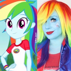 Size: 1024x1024 | Tagged: safe, rainbow dash, human, equestria girls, clothes, cosplay, costume, irl, irl human, photo