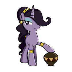Size: 4200x4200 | Tagged: safe, artist:blazeburn386, oc, oc only, oc:lavendra, pony, unicorn, accessories, bracelet, clothes, ear piercing, earring, female, hairband, jewelry, looking at you, mare, one hoof raised, piercing, smiling, solo, standing