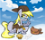 Size: 1072x968   Tagged: safe, artist:sallycars, derpy hooves, pegasus, envelope, female, food, glasses, hat, looking at you, mailbag, mailmare, mailmare hat, mailmare uniform, mare, muffin, smiling, smiling at you, solo