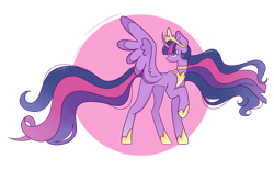 Size: 1280x795 | Tagged: safe, artist:yearoftherooster, twilight sparkle, alicorn, pony, the last problem, crown, female, jewelry, looking back, mare, older, older twilight, princess twilight 2.0, regalia, simple background, solo, transparent background, twilight sparkle (alicorn), wings