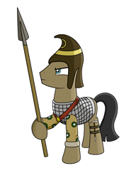 Size: 4300x5600 | Tagged: safe, artist:blazeburn386, oc, oc only, earth pony, pony, accessories, angry, armor, axe, clothes, helmet, male, royal guard, soldier, solo, spear, stallion, standing, weapon