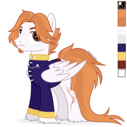 Size: 1024x1024 | Tagged: safe, artist:kabuvee, oc, pegasus, pony, clothes, male, simple background, solo, stallion, transparent background