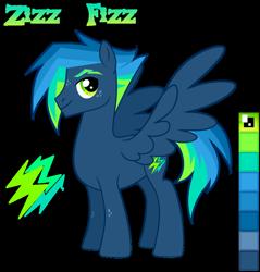 Size: 1024x1073 | Tagged: safe, artist:kabuvee, oc, oc:zizz fizz, pegasus, pony, male, simple background, solo, stallion, transparent background