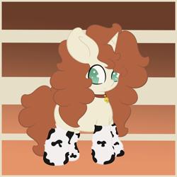 Size: 1500x1500 | Tagged: safe, artist:vanifl, oc, oc:vanilla flavor, pony, unicorn, bell, bell collar, clothes, collar, female, filly, socks
