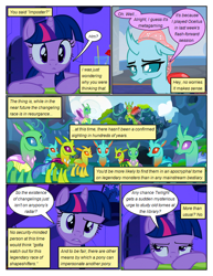 Size: 612x792 | Tagged: safe, artist:newbiespud, edit, edited screencap, screencap, ocellus, twilight sparkle, changedling, changeling, pony, unicorn, comic:friendship is dragons, comic, confused, dialogue, female, mare, screencap comic, unicorn twilight