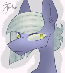 Size: 800x900 | Tagged: safe, artist:junko, limestone pie, earth pony, pony, colored pupils, digital art, ear fluff, eyelashes, female, looking offscreen, mare, signature, solo