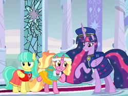 Size: 1440x1080 | Tagged: safe, artist:徐詩珮, barley barrel, luster dawn, twilight sparkle, alicorn, pegasus, pony, unicorn, bubbleverse, series:sprglitemplight diary, series:sprglitemplight life jacket days, series:springshadowdrops diary, series:springshadowdrops life jacket days, the last problem, alternate universe, chase (paw patrol), clothes, cute, ella (paw patrol), everest (paw patrol), older, older barley barrel, older twilight, paw patrol, princess twilight 2.0, twilight sparkle (alicorn)