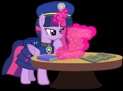 Size: 1260x934 | Tagged: safe, artist:徐詩珮, twilight sparkle, alicorn, pony, series:sprglitemplight diary, series:sprglitemplight life jacket days, series:springshadowdrops diary, series:springshadowdrops life jacket days, alternate universe, base used, chase (paw patrol), clothes, cute, paw patrol, simple background, transparent background, twilight sparkle (alicorn)