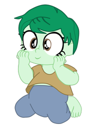 Size: 1583x1975 | Tagged: safe, artist:gmaplay, wallflower blush, equestria girls, spoiler:eqg specials, baby, cute, flowerbetes, simple background, solo, transparent background