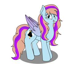 Size: 1280x1066 | Tagged: safe, artist:lynnthenerdkitty, oc, oc:bittersweet, pegasus, colored wings, gradient wings, large wings, long mane, simple background, smiling, smirk, solo, transparent background, wings