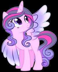 Size: 1974x2459 | Tagged: safe, artist:twinklecometyt, oc, alicorn, pony, female, magical lesbian spawn, mare, offspring, parent:princess cadance, parent:twilight sparkle, parents:twidance, simple background, solo, transparent background