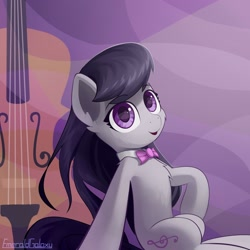 Size: 1920x1920 | Tagged: safe, artist:emeraldgalaxy, octavia melody, earth pony, pony, cello, female, mare, musical instrument, solo