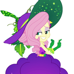 Size: 1024x1024 | Tagged: safe, artist:supersamyoshi, edit, edited screencap, screencap, fluttershy, equestria girls, equestria girls series, holidays unwrapped, spoiler:eqg series (season 2), background removed, bare shoulders, cornucopia costumes, cropped, female, o come all ye squashful, simple background, sleeveless, smiling, solo, strapless, transparent background