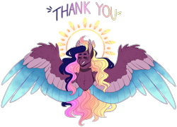 Size: 4795x3459 | Tagged: safe, artist:sleepy-nova, oc, oc:supernova, pegasus, pony, bust, colored wings, female, mare, multicolored wings, portrait, simple background, solo, transparent background, wings