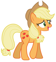 Size: 5889x6513 | Tagged: safe, artist:estories, applejack, earth pony, pony, applejack's hat, cowboy hat, female, hat, mare, simple background, solo, stetson, transparent background, vector