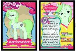 Size: 1280x871 | Tagged: safe, artist:askmerriweatherauthor, oc, oc:merriweather, pony, unicorn, female, mare, mlp trading card game, scar, solo