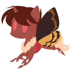Size: 2084x2084 | Tagged: safe, artist:captshowtime, part of a set, oc, oc only, oc:red flux, changeling, moth, mothling, original species, pony, butterfly wings, chibi, commission, cute, fluffy, icon, red changeling, simple background, solo, transparent background, wings, ych result