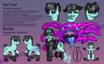 Size: 1860x1150   Tagged: safe, artist:leastways, oc, oc only, oc:iso, pony, unicorn, beholder, female, horn, reference sheet, unicorn oc