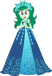 Size: 3484x5077 | Tagged: safe, artist:punzil504, wallflower blush, equestria girls, absurd resolution, bare shoulders, beautiful, clothes, clothes swap, costume conundrum: rarity, crown, cute, dress, female, flowerbetes, freckles, gown, jewelry, looking at you, open mouth, princess, princess costume, regalia, simple background, sleeveless, solo, strapless, transparent background