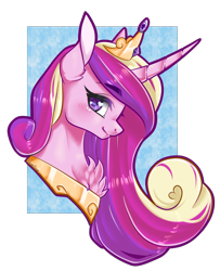 Size: 1500x1845   Tagged: safe, artist:fuufuucuddles, artist:haine--chan, princess cadance, alicorn, pony, blushing, bust, chest fluff, cute, cutedance, ear fluff, female, heart eyes, mare, portrait, profile, simple background, smiling, solo, transparent background, wingding eyes
