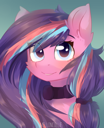 Size: 4436x5424 | Tagged: safe, artist:melloncollie-chan, oc, oc only, oc:serenity pond, earth pony, pony, collar, commission, female, mare, solo