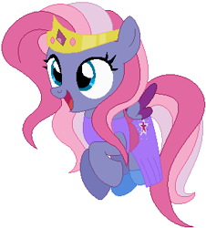 Size: 286x316 | Tagged: safe, artist:awoomarblesoda, artist:user15432, starsong, pegasus, pony, base used, clothes, costume, crown, dress, female, g3, g3 to g4, g4, generation leap, gown, halloween, halloween costume, holiday, jewelry, princess, princess costume, regalia, shoes, simple background, solo, white background