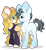 Size: 1098x1206 | Tagged: safe, artist:mintoria, oc, oc only, pegasus, pony, unicorn, clothes, female, hoodie, male, mare, simple background, stallion, transparent background, two toned wings, wings
