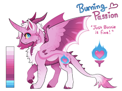 Size: 1040x780 | Tagged: safe, artist:lastnight-light, oc, oc:burning passion, dracony, dragon, hybrid, pony, horn, horns, hybrid wings, male, simple background, solo, transparent background, wings