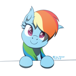 Size: 1600x1600   Tagged: safe, artist:livehotsun, rainbow dash, pegasus, pony, cute, dashabetes, ear fluff, female, head tilt, looking at you, mare, simple background, smiling, solo, white background