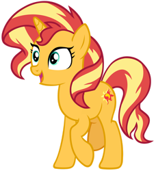 Size: 1280x1405 | Tagged: safe, artist:andoanimalia, sunset shimmer, pony, unicorn, equestria girls, equestria girls series, forgotten friendship, female, mare, reaction image, simple background, smiling, solo, transparent background, vector