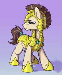 Size: 1653x2000 | Tagged: safe, artist:kotya, oc, oc:rusty star, pony, full body, guard, simple background, solo