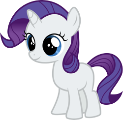 Size: 3076x3000 | Tagged: safe, artist:cloudyglow, rarity, pony, unicorn, the cutie mark chronicles, .ai available, absurd resolution, female, filly, filly rarity, simple background, smiling, solo, transparent background, vector, younger