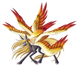 Size: 3840x3285 | Tagged: safe, artist:sadatrix, oc, pegasus, pony, colored wings, male, multicolored wings, multiple wings, simple background, solo, stallion, transparent background, wings