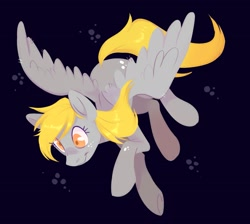 Size: 2363x2115 | Tagged: safe, artist:waackery, derpy hooves, pegasus, pony, dark background, female, mare, simple background, solo, spread wings, wings