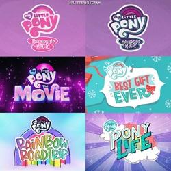 Size: 640x640 | Tagged: safe, screencap, best gift ever, friendship is magic, my little pony: pony life, my little pony: the movie, rainbow roadtrip, logo, my little pony logo, no pony