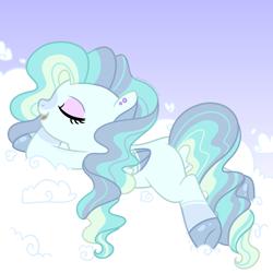 Size: 1700x1700 | Tagged: safe, artist:katelynleeann42, oc, pegasus, pony, base used, cloud, female, mare, solo