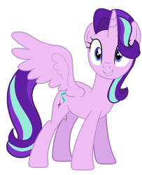 Size: 1280x1576 | Tagged: safe, artist:baydesbases, starlight glimmer, alicorn, pony, alicornified, race swap, simple background, solo, starlicorn, transparent background, xk-class end-of-the-world scenario
