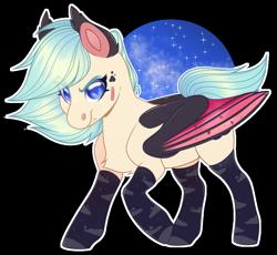 Size: 1024x943 | Tagged: safe, artist:sadelinav, oc, oc:fire heart, bat pony, pony, chibi, female, mare, simple background, solo, transparent background