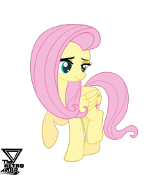 Size: 4300x4600 | Tagged: safe, artist:theretroart88, fluttershy, pegasus, simple background, transparent background, vector