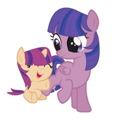 Size: 1032x1068 | Tagged: safe, artist:twilightcraft, oc, oc:rose sparkle, oc:star sentry, pegasus, pony, unicorn, baby, baby pony, female, horn, offspring, parent:flash sentry, parent:twilight sparkle, parents:flashlight, pegasus oc, siblings, sisters, unicorn oc, wings