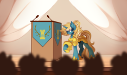 Size: 5222x3080 | Tagged: safe, artist:airiniblock, oc, oc only, oc:maple parapet, pony, unicorn, armor, commission, female, rcf community