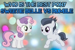 Size: 526x350 | Tagged: safe, rumble, sweetie belle, best pony