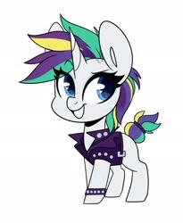 Size: 1680x2048 | Tagged: safe, artist:sakukitty, rarity, pony, unicorn, it isn't the mane thing about you, alternate hairstyle, cute, female, heart eyes, mare, punk, raribetes, raripunk, simple background, smiling, solo, white background, wingding eyes