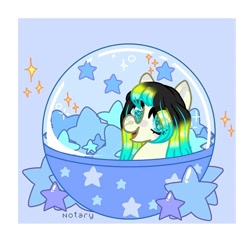 Size: 1080x1080 | Tagged: safe, artist:lacey.wonder, oc, oc only, earth pony, pony, ball, earth pony oc, smiling, solo, stars