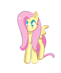 Size: 835x1000   Tagged: safe, artist:pivixkyte, fluttershy, pegasus, pony, blushing, cute, female, looking at you, mare, no nose, shyabetes, simple background, solo, transparent background