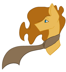 Size: 1124x1209   Tagged: safe, artist:toptian, oc, oc only, earth pony, pony, bust, clothes, earth pony oc, male, scarf, solo, stallion