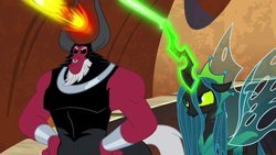 Size: 1920x1080 | Tagged: safe, screencap, lord tirek, queen chrysalis, the ending of the end