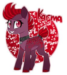 Size: 2659x3000   Tagged: safe, artist:crazysketch101, oc, oc only, oc:karma, earth pony, pony, simple background, solo, white background