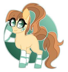 Size: 2538x2681   Tagged: safe, artist:crazysketch101, oc, oc only, oc:bookworm, earth pony, pony, clothes, simple background, socks, solo, striped socks, white background